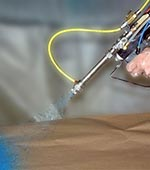 High Viscosity Material Spray-up